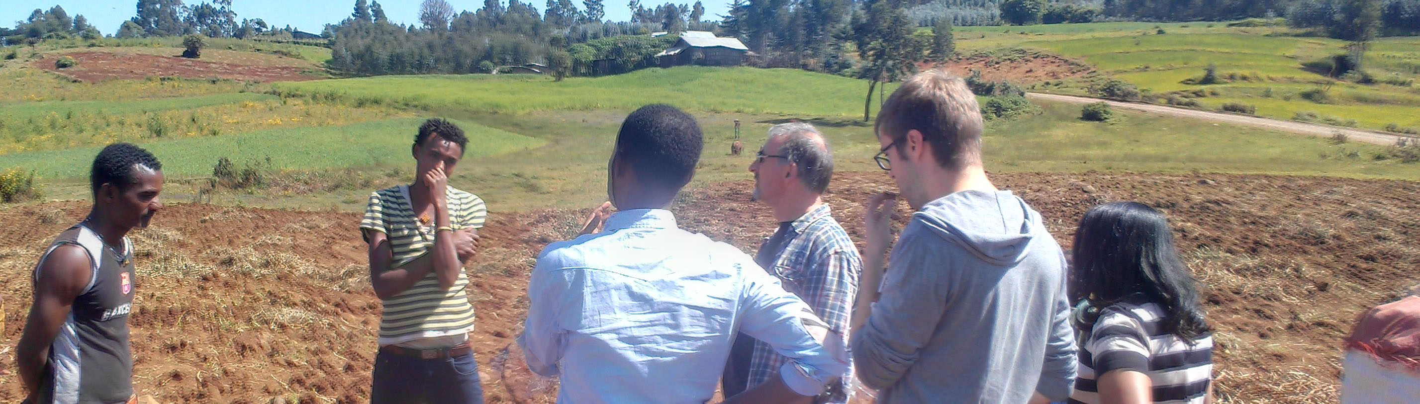 Field visit by the project team, Oct. 17, 2017 in Gendeberet, Ethiopia